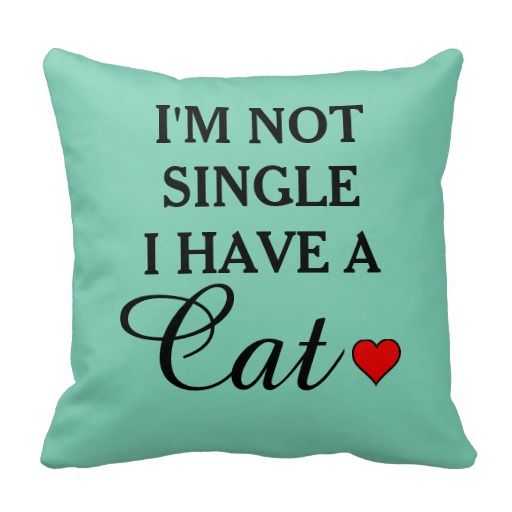 Funny Cat Lady Humorous Quote Throw Pillow