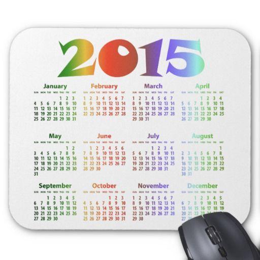 Tropical Colors 2015 Calendar Mouse Pads