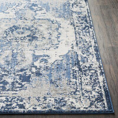 Bungalow Rose Ebenezer Oriental Navy Dark Blue Area Rug In 2021 Blue And White Rug Blue Living Room Decor Rugs In Living Room