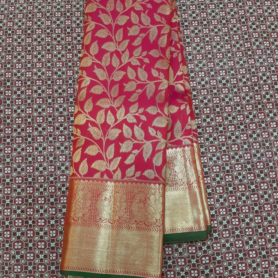 """Photo of Saree Love on Instagram: """"Kanchipuram pure silk saree at Rs.14500.nc.DM to place an order.  5-10% of color variance due to digital photography.No COD.No Cancellation…"""""""