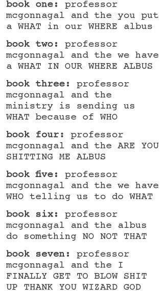 The Harry Potter Books As Told From Mcgonagall S Perspective