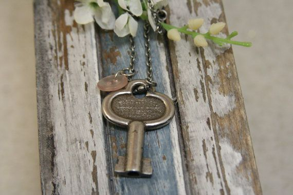 Antique Key Necklace  made with an antique clock key by AngleAh, $21.00