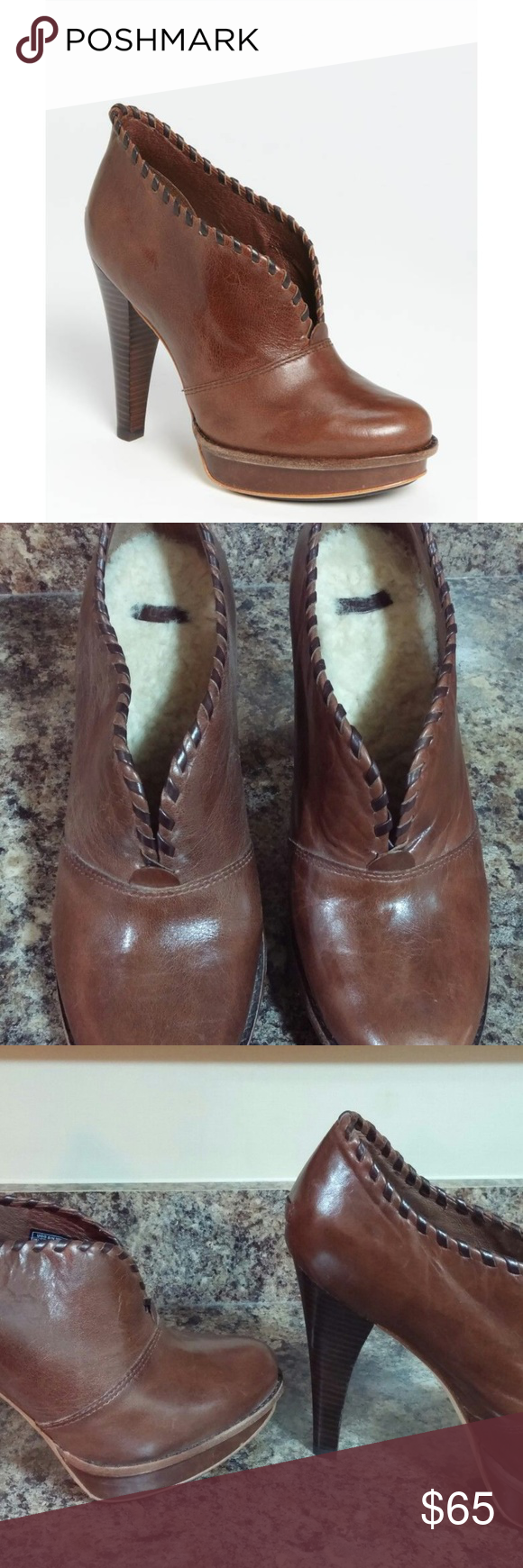 dfbd2b8b8 UGG Jamison Platform Bootie UGG Australia Name: Jamison Color: Brown Size:  39 (9 US) Leather High Heel Bootie SUPER comfortable shoes!