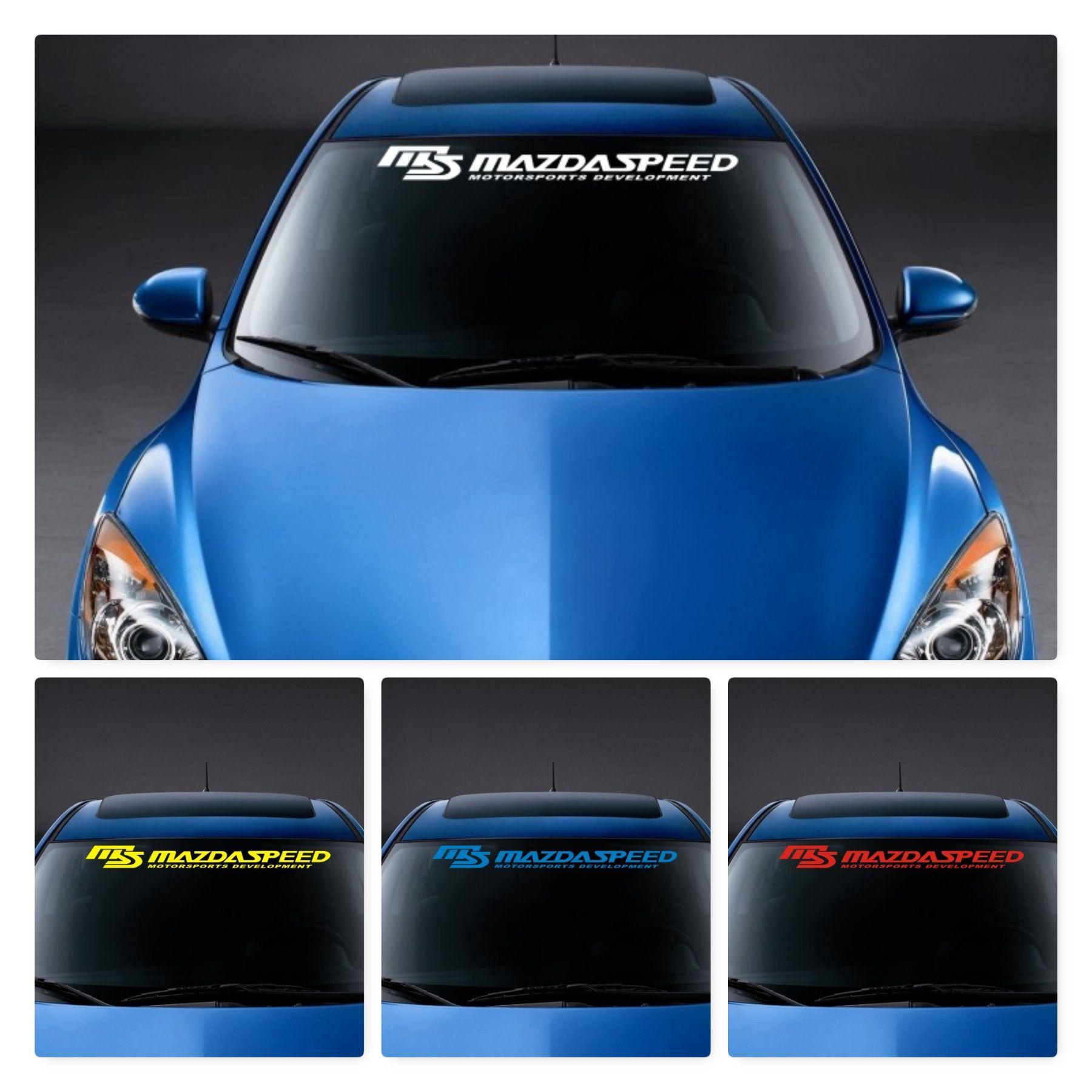 Mazda Front Window Sticker Ms Mazdaspeed Vinyl Decals Window Stickers Vinyl Decal Stickers [ 1800 x 1800 Pixel ]