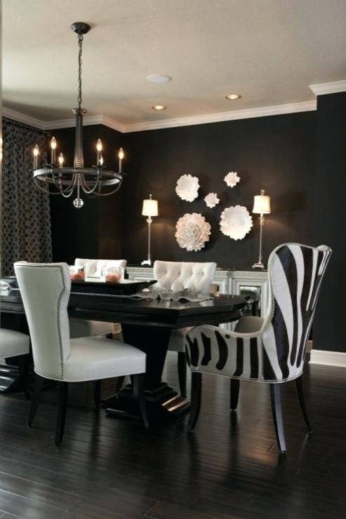 Best Glamorous Dark Wood Interior Ideas Einteriors Us In 2020 Dining Room Contemporary Black Dining Room Black And White Dining Room