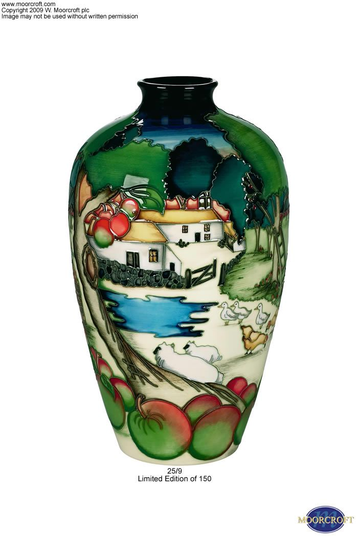 Moorcroft Pottery   moorcroft pottery design fowlers orchard ...