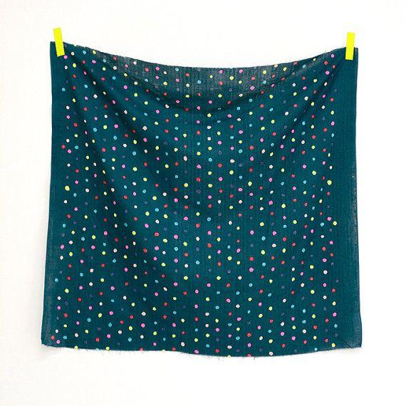 Nani Iro Neon Colorful Pocho Japanese Fabric : Miss Matatabi, $9.00