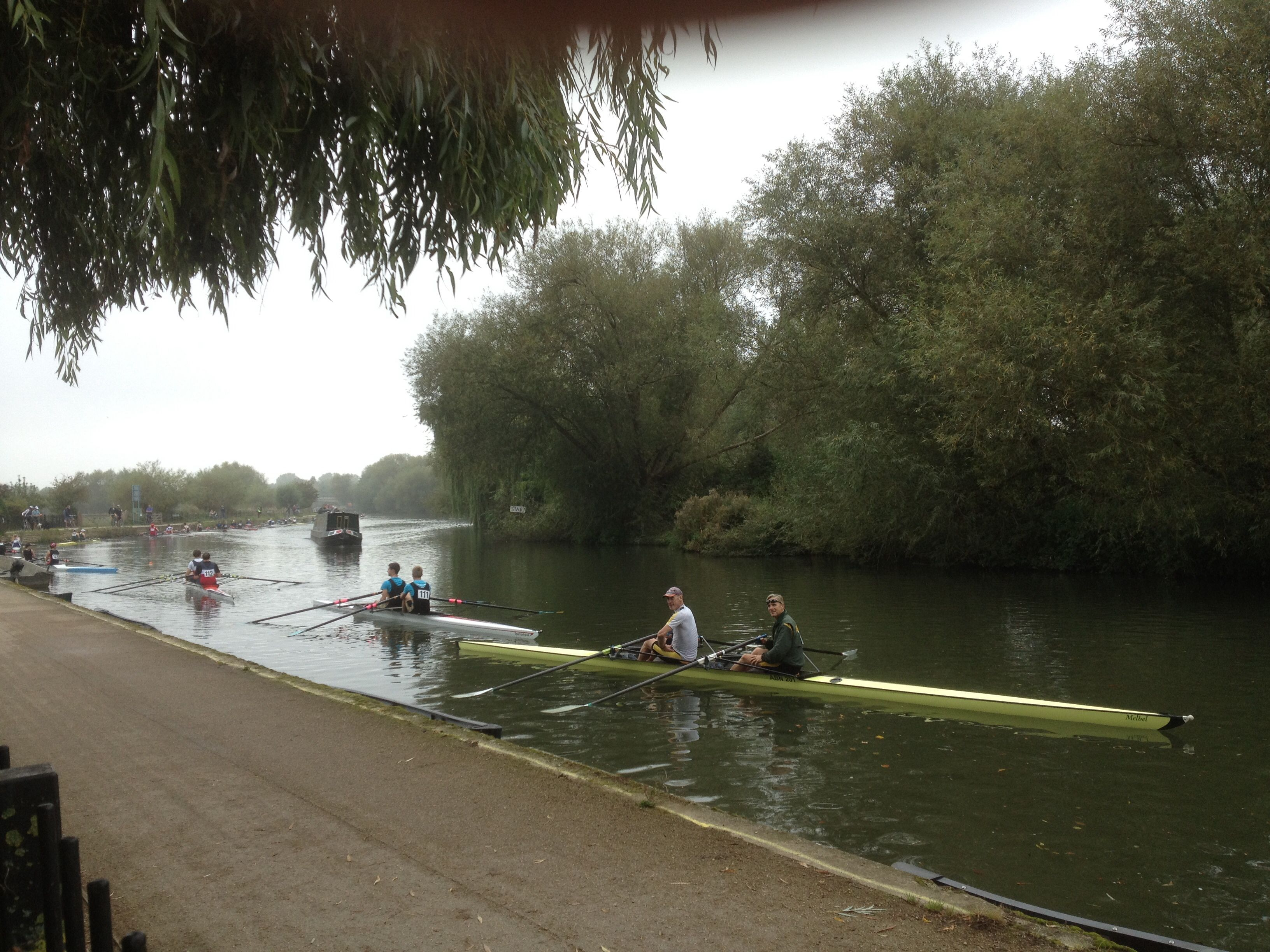 Isis Farmhouse Oxford Abingdon Rowing Club Double Scull Just About To Start In The Isis