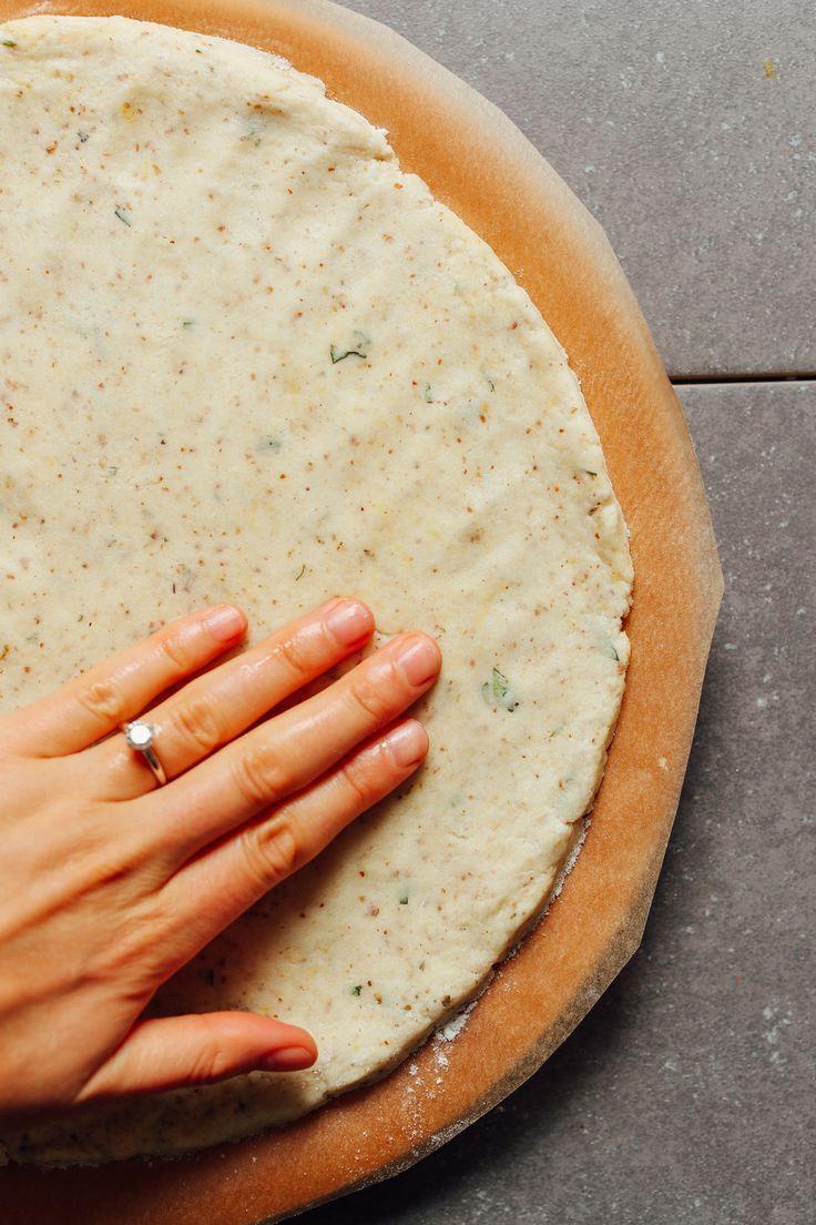 Masa vegana fácil de pizza sin gluten