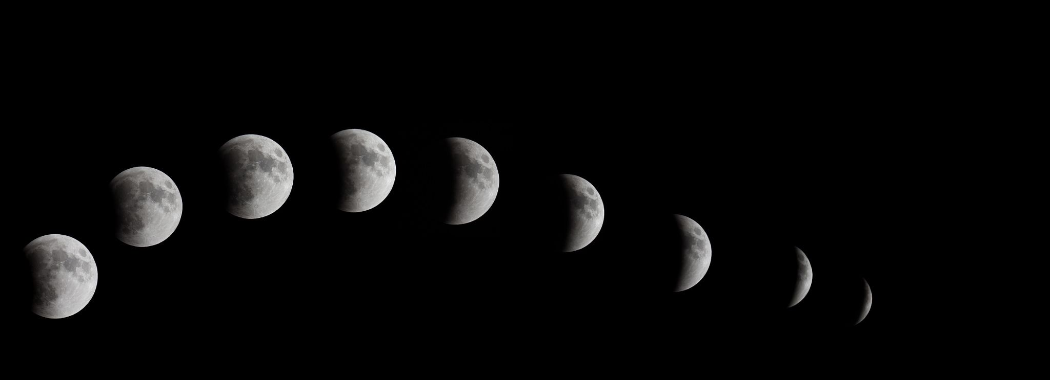 2015 lunar eclipse Pano - 2015 lunar eclipse Pano before the blood Moon