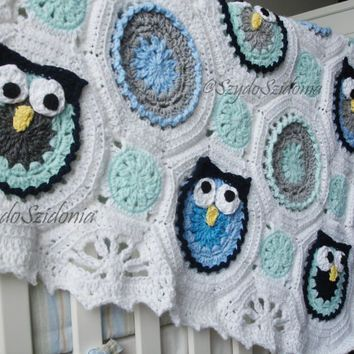 Shop Crochet Owl Blanket On Wanelo Crochets Pinterest Crochet Stunning Owl Afghan Crochet Pattern Free