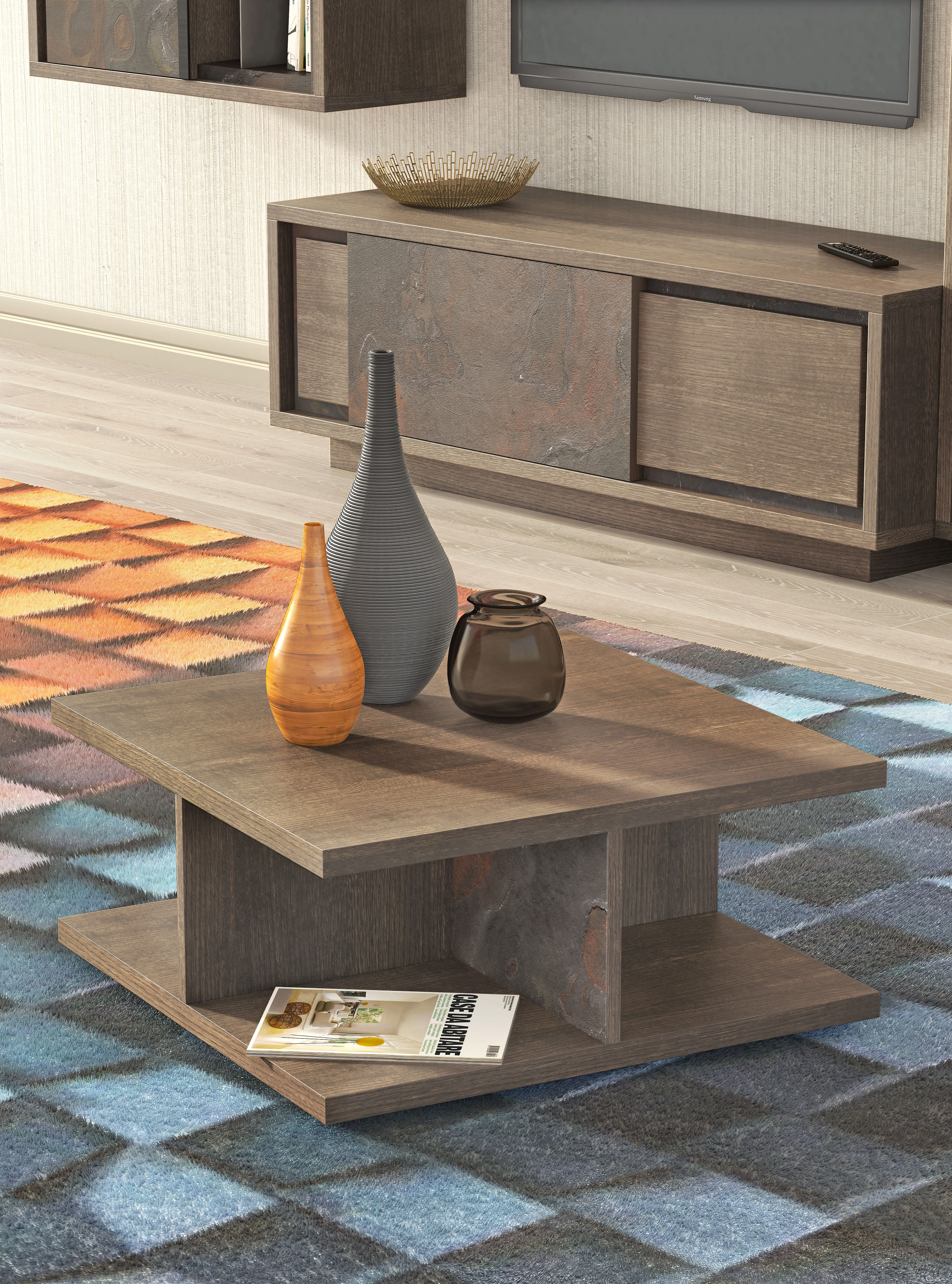 Mesa De Centro Cole O Forest Costa Janu Rio Natural Wood  # Bitacora Muebles