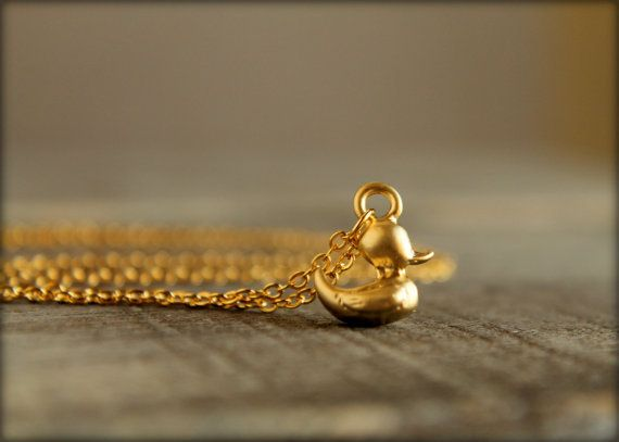 Rubber Ducky Necklace in Matte Gold | bisut | Pinterest | Matte gold ...