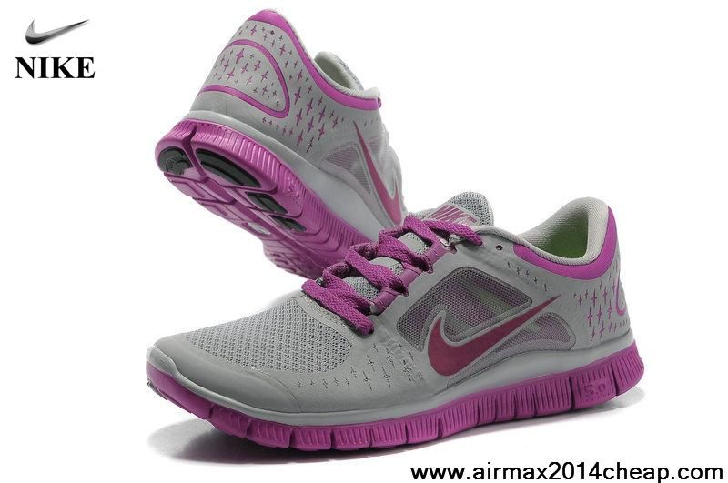 Low Price Nike Free Run 3 Womens 510642-501 Grey Purple The Most Flexible  Running
