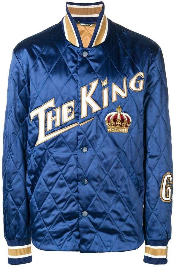 Dolce & Gabbana quilted varsity jacket #varsityjacketoutfit