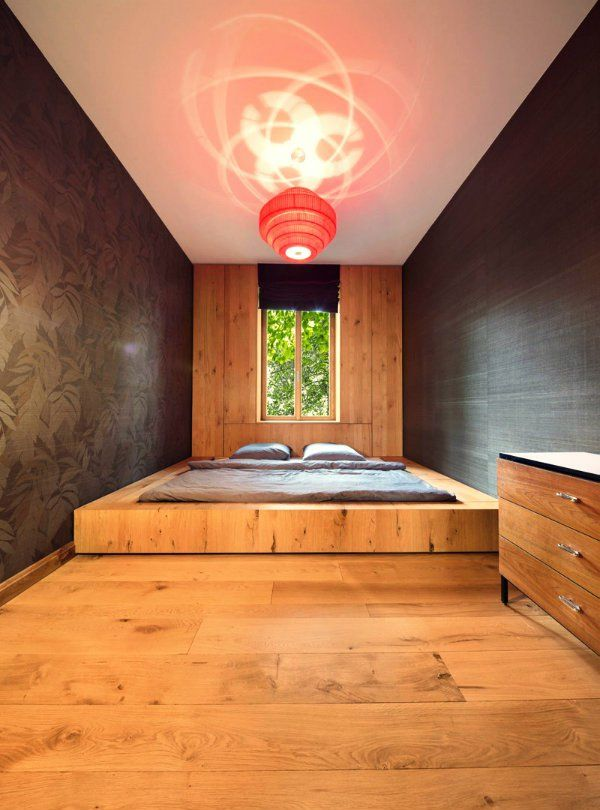schlafzimmer ideen, bett in einem podest eingebaut, Schlafzimmer design