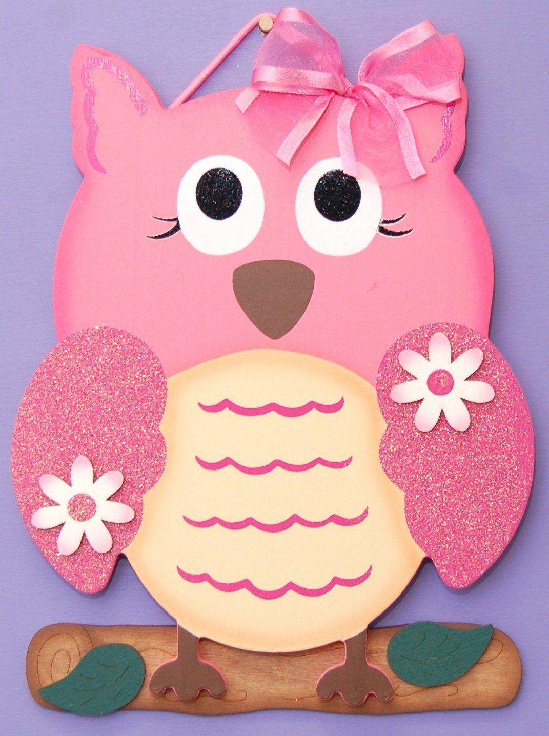 girl owl sign decorationpersonalized  etsy  girls room