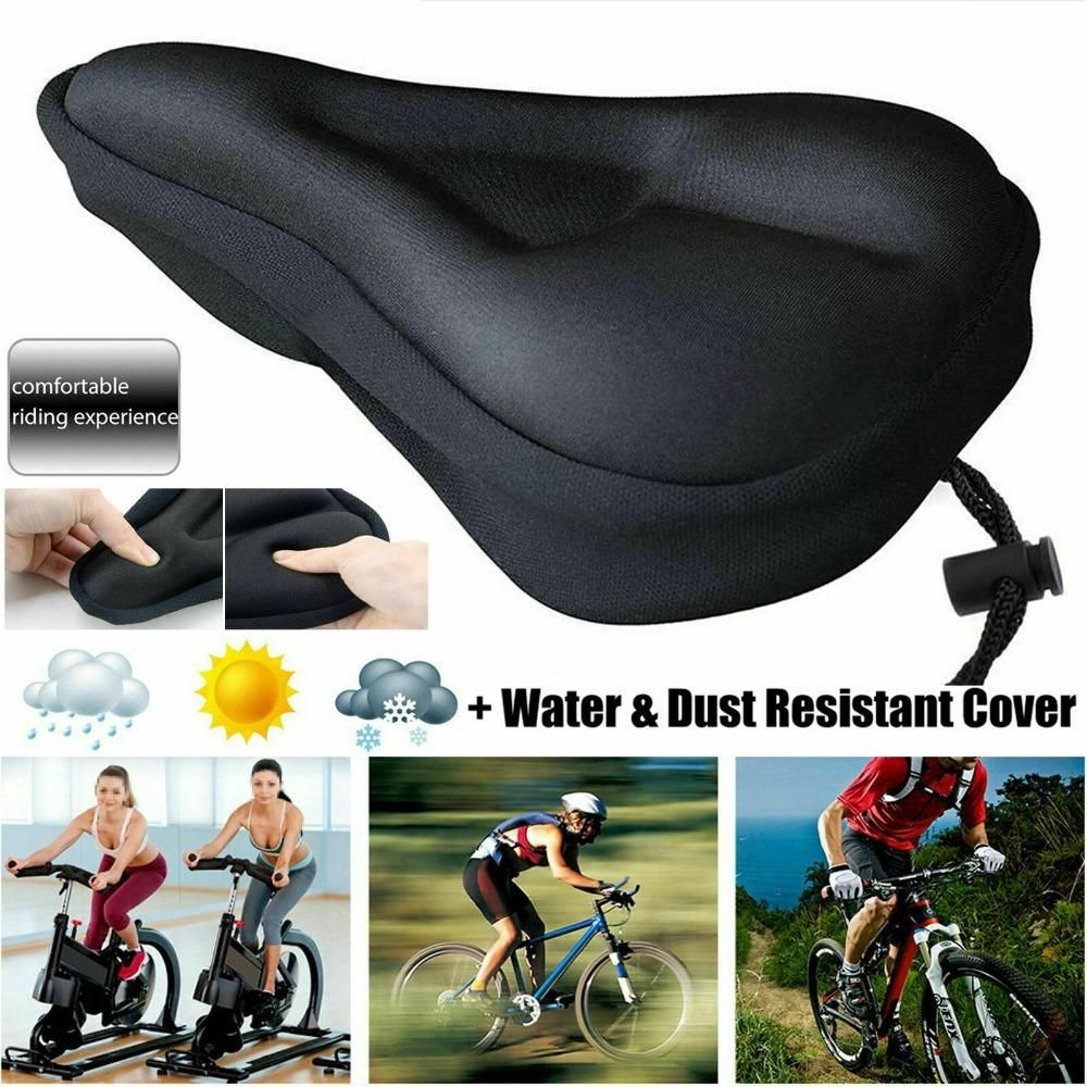 Bike Comfort Soft Gel Pad Comfy Cushion Saddle Seat Cover Bicycle Cycle New
