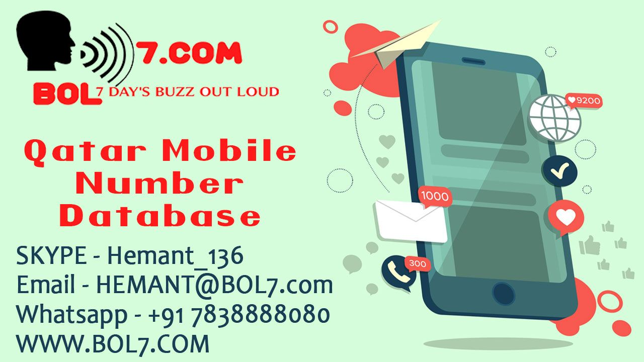 Qatar mobile Number database 2019 highvolume Mobile