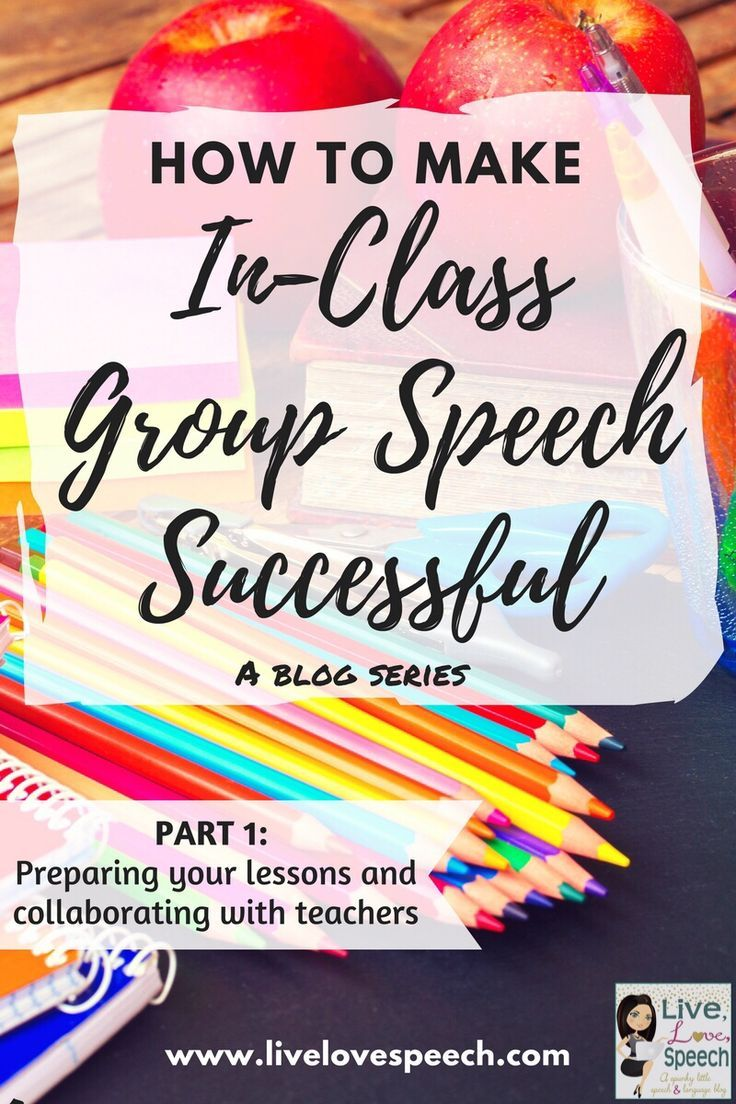 You can make in-class group speech successful when you start using the ideas, tips, and strategies included at this blog post. This post explains how to prepare your lesson plans and collaborate with teachers. Everything here can be used across a variety of elementary grade levels - preschool, Kindergarten, 1st, 2nd, 3rd, 4th, or 5th grade. You'll get FREE downloads, resources, and much more to get you started and on your way.
