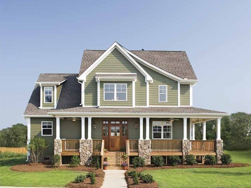 Craftsman Style 2 story 4 bedrooms(s) House Plan with 2490