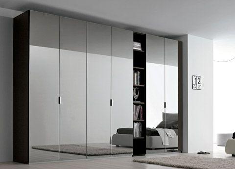 Sky Mirrored Door Wardrobe With Open Shelving Mirrored Bedroom Furniture Mirrored Wardrobe Doors Fitted Bedrooms