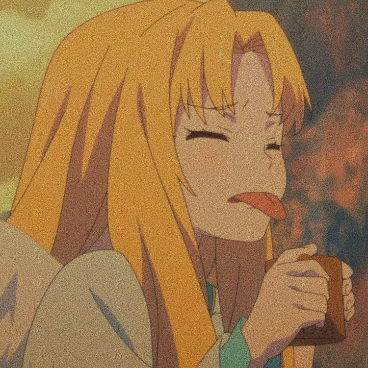 Yellow Anime Characters Aesthetic}