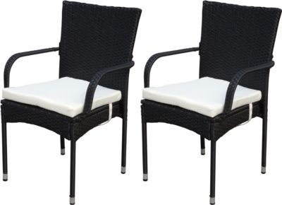 Heute Wohnen 2x Poly Rattan Gartenstuhl Ariana Stapelstuhl Rattanstuhl Inkl Sitzkissen Jetzt Bestellen Unter Https Mo Gartenstuhle Stuhle Tisch Und Stuhle