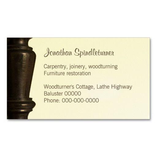 Woodturner Furniture Restorer Business Card Furniture Restoration Wood Turning Furniture Arrangement