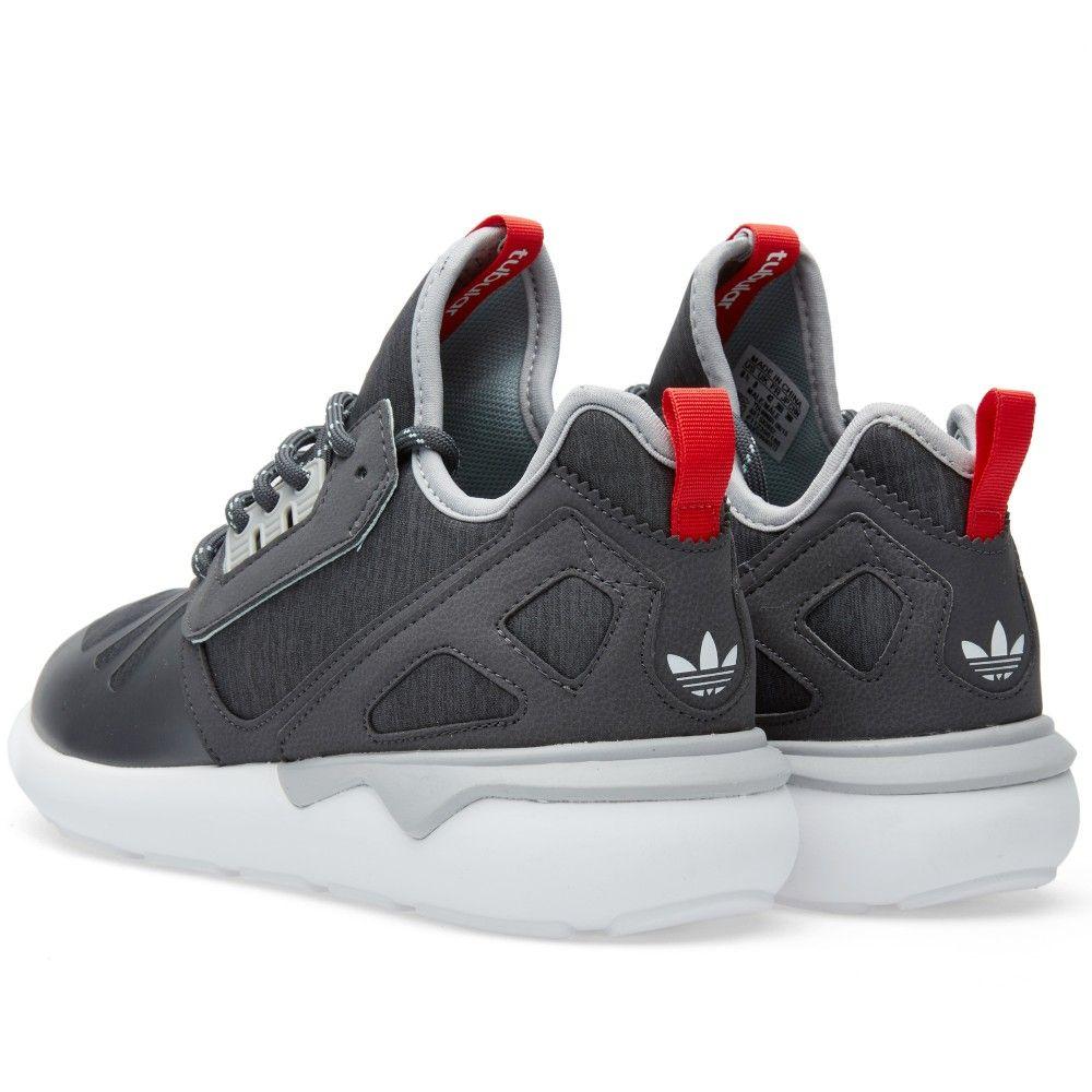 big sale 5ea73 af7d5 Adidas Tubular Runner Weave (Solid Grey, Tomato   White)