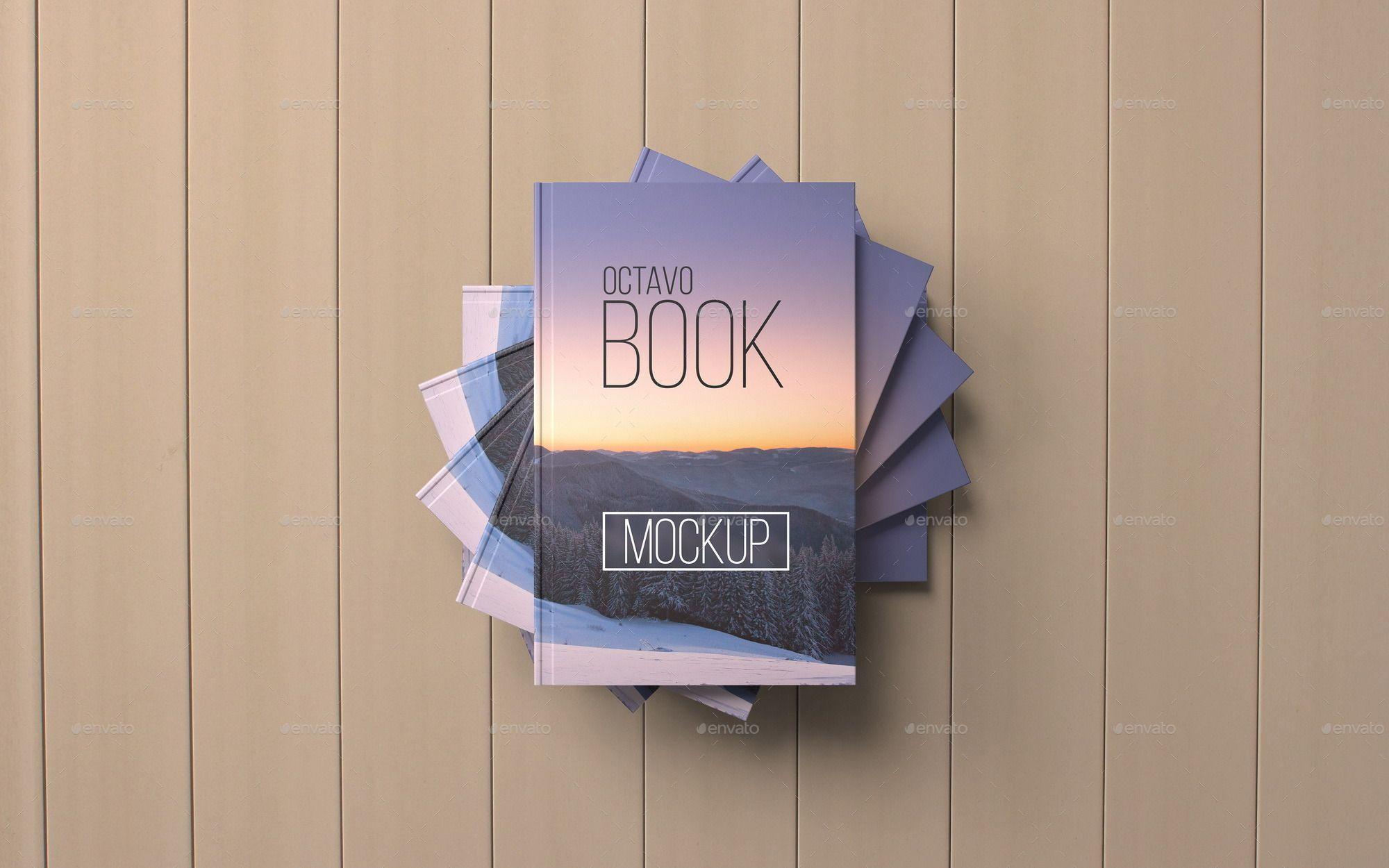 Octavo Book MockUp Set.1 Cover design, Vector pattern