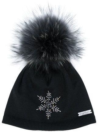 08a460a3f0a Norton pom pom snowflake hat