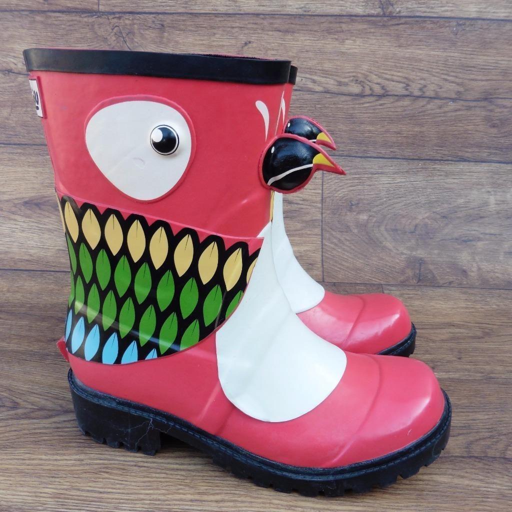 a55dc6368 Uk Juju Parrot Kigu X 4 Details About Wellington Wellies Size Boots IUww1E