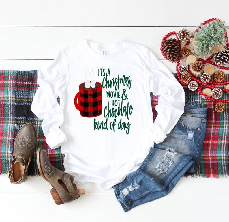 Womens Christmas shirt, Christmas shirt Long Sleeve, Christmas Movies, Christmas shirts, Womens shirt, Christmas movies shirt, Holiday Tee