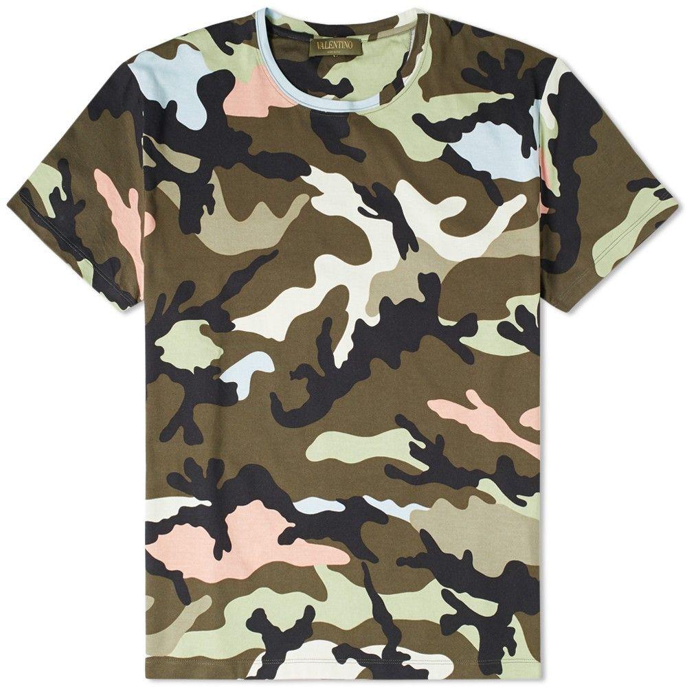 Valentino Camouflage Jersey Tee (Green Camo)   camo   Camo ... 4af9d643e422