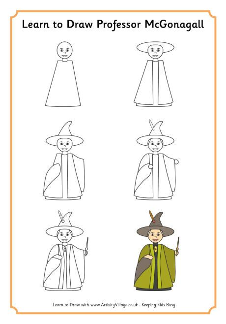 Learn to draw professor mcgonagall baby girl harry - Dessin de prof ...