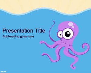 Free octopus powerpoint template is a free octopus powerpoint free octopus powerpoint template is a free octopus powerpoint slide design with a nice octopus cartoon toneelgroepblik Choice Image
