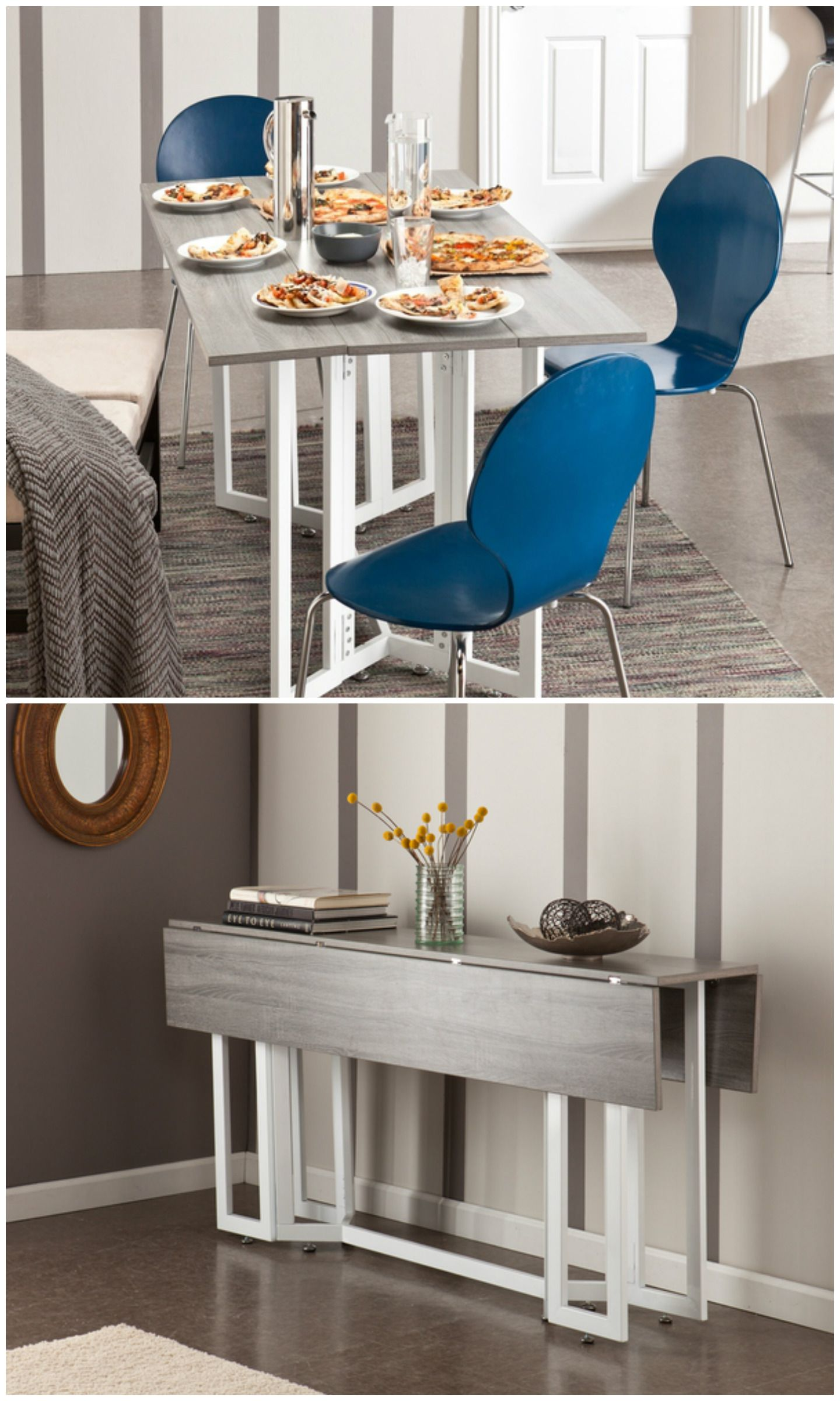 Twenty Dining Tables That Work Great In Small Spaces Living In A Shoebox Space Saving Dining Table Dining Table Small Space Small Table Decor