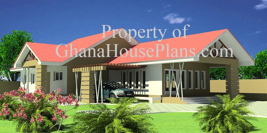 Obrapa house plan ghana building plans design ghana for Ghana house designs