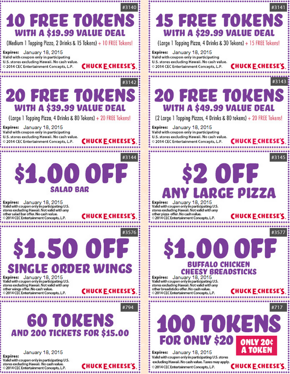 picture relating to Chuck E Cheese Coupon Printable referred to as Ideal 2019 Chuck E Cheese Discount coupons, Totally free Tokens Tickets
