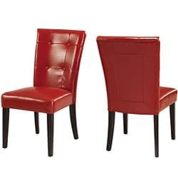 Shop For Button Tufted Red Parsons Chair (Set Of 2). Get Free Shipping At  Overstock.com   Your Online Furniture Outlet Store! Get 5% In Rewards With  Club O! ...