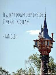 Tangled Dream Inside Quote Disney Quotes Disney Princess Quotes Funny Quotes For Kids