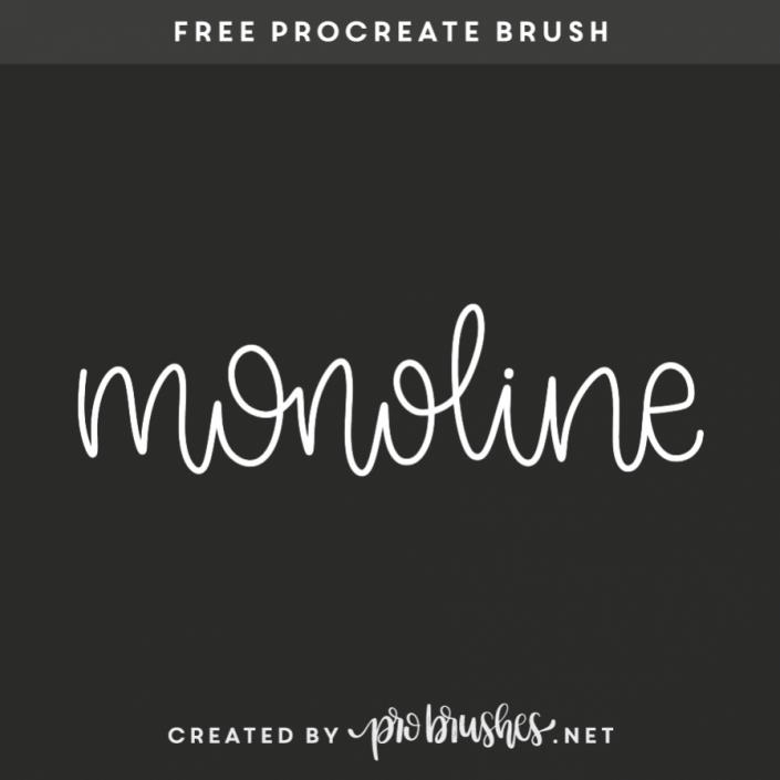Monoline Procreate brushes free, Procreate brushes, Free
