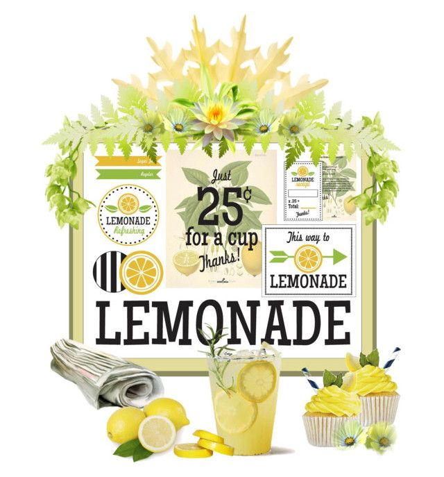 """Life Gives You Lemons...Make Lemonade!"" by carla-altum ❤ liked on Polyvore featuring art"