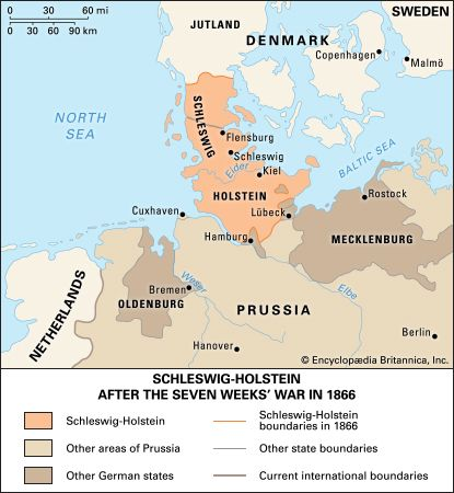 Seven Weeks' War, also called Austro-Prussian War,  (1866), war between Prussia on the one side and Austria, Bavaria, Saxony, Hanover, and certain minor German states on the other. It ended in a Prussian victory, which meant the exclusion of Austria from Germany. The issue was decided in Bohemia, where the principal Prussian armies met the main Austrian forces and the Saxon army, most decisively at...