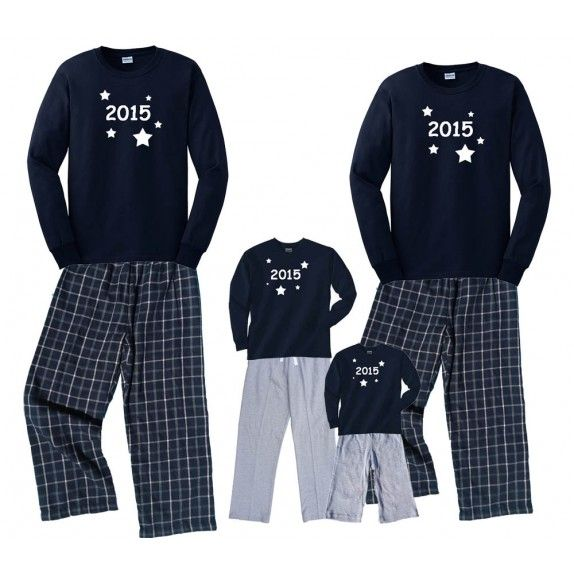 87385292a8 Personalized Family Pajama Sets and custom outfits. new years eve pajamas.  Have a