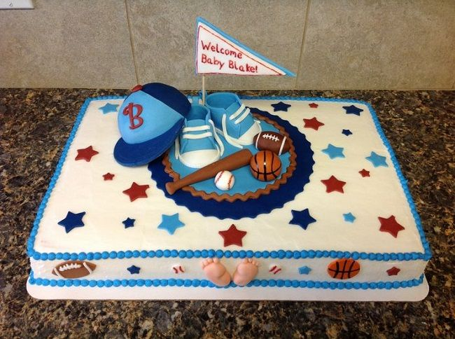 Sports Themed Baby Shower Cakes New Cake Ideas With Images