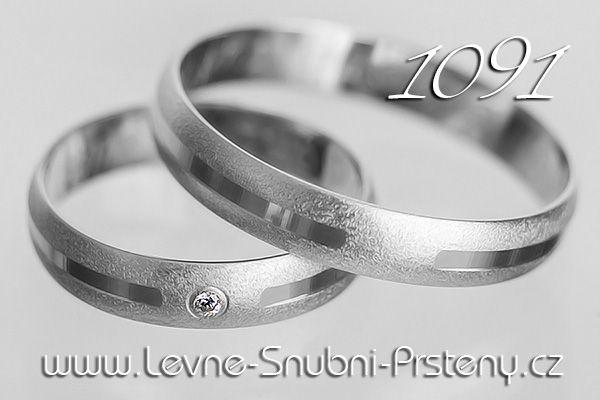 db59a8d9d Snubní prsteny z bílého zlata LSP 1091b | SVATBA - Prsten | Pinterest