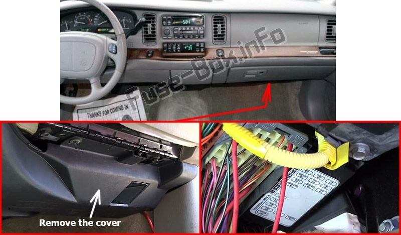 7 Buick Park Avenue (1997-2005) fuses and relays ideas   buick park avenue, fuse  box, electrical fuse   1998 Buick Park Avenue Fuse Box      Pinterest