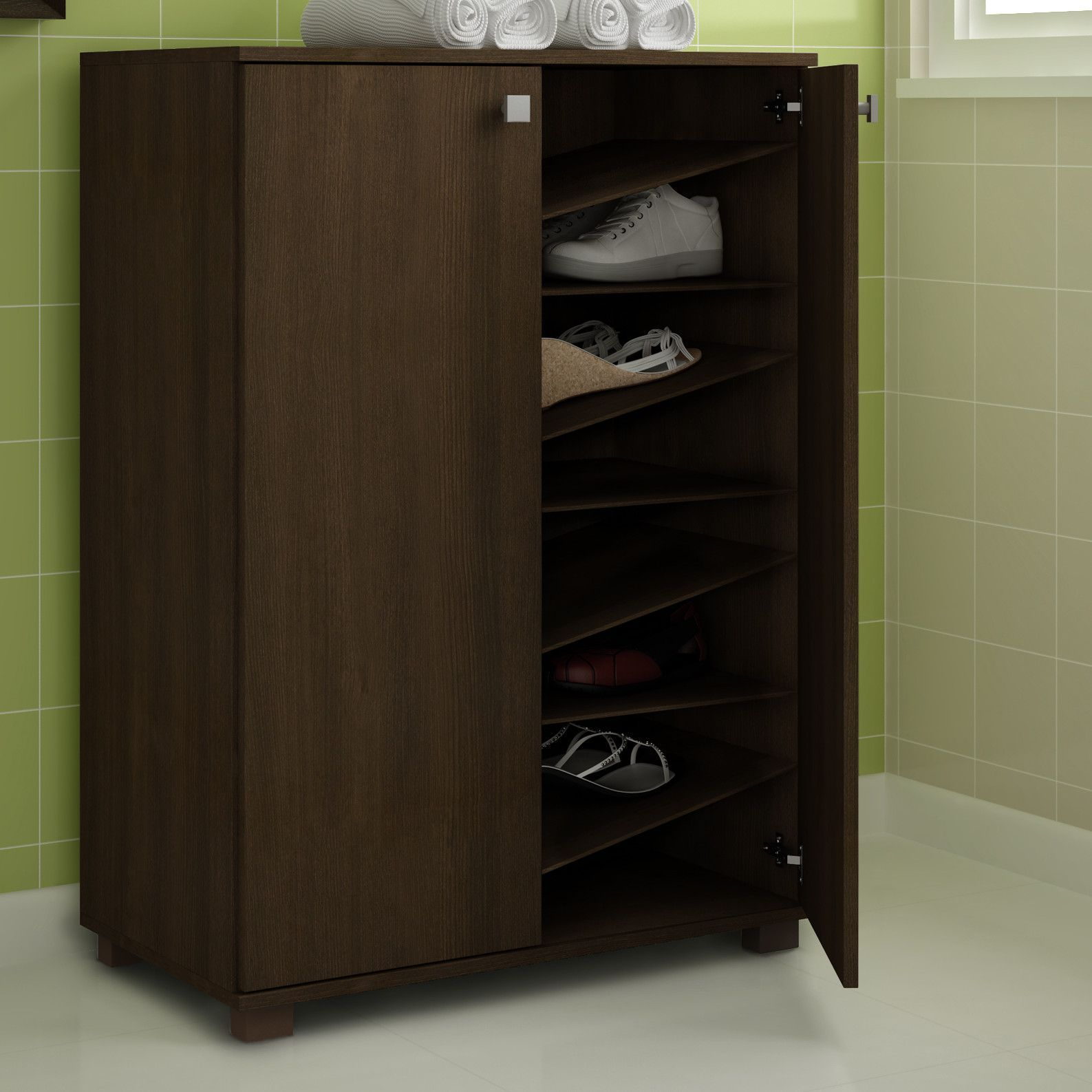 Narrow hallway storage solutions  Shoe Closet  Products  Pinterest  Products